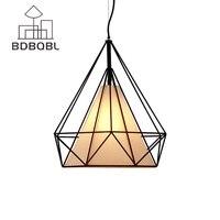 BDBQBL Modern Black Birdcage Pendant Lights Iron Minimalist Retro Light Scandinavian LOFT Pyramid Lamp Metal Cage