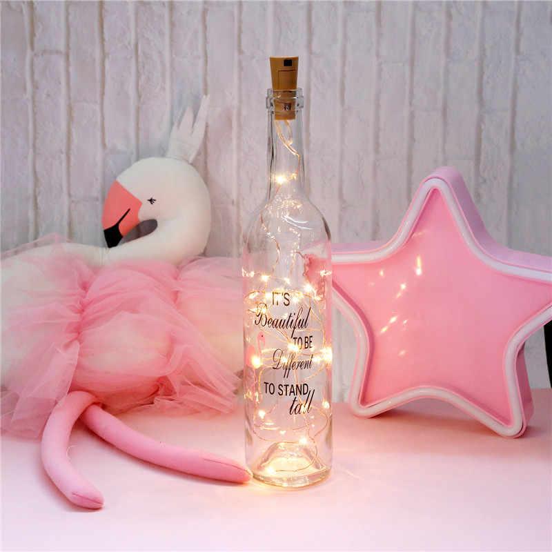 1 M/2 M/3 M LED çelenk bakır tel Corker String peri işıklar cam zanaat şişe yeni yıl/noel/düğün dekorasyon