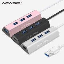 Acasis USB 허브 3.0 4 포트 멀티 USB 3.0 허브 알루미늄 허브 USB 3,0 전원 어댑터 USB 분배기 PC 컴퓨터 액세서리 #25