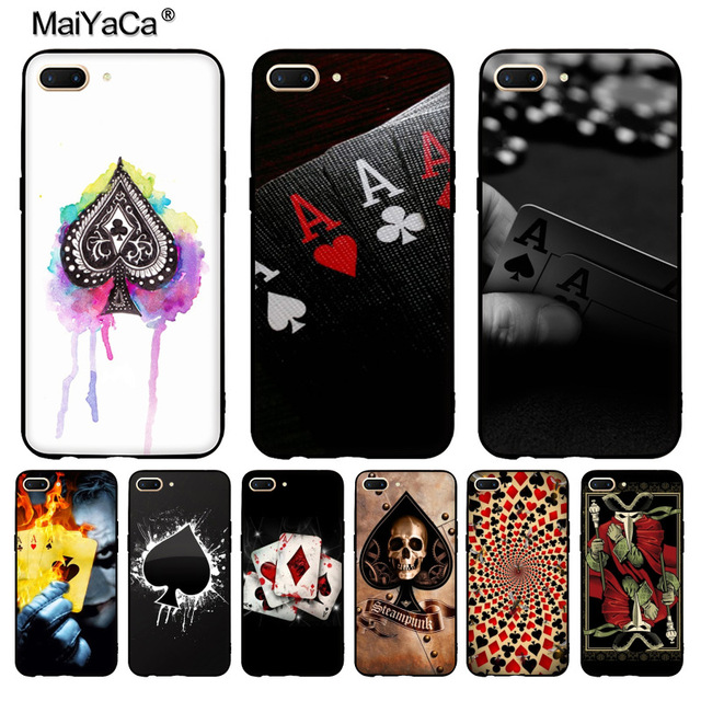 competitive price 8d1dd cebf8 US $1.45 27% OFF|MaiYaCa Poker Fashion Original On Sale! Luxury Cool phone  Case for OPPO R9 R9S R11 PLUS casefor vivo X9 PLUS X20 case-in Half-wrapped  ...