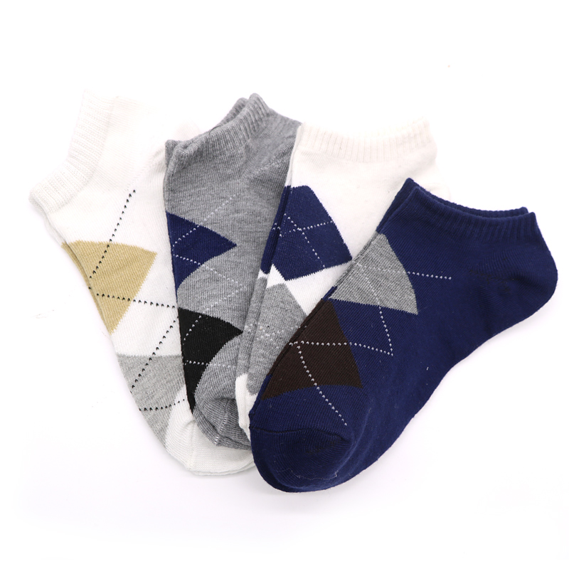 Tfos Socks Store 6Pairs Comfortable Men's Socks Fashion Casual Lozenge Socks Male Low Cut Ankle Socks Short Mens Brand Socks Meias Calcetines