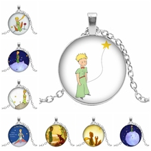 2019 New Best Selling Cartoon Little Prince Glass Convex Dome Pendant Necklace Childrens Birthday Gift