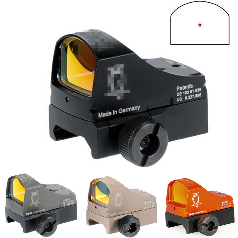 CQC Tactical Airsoft Holográfica Ótica DOCTER Reflex Red Dot Sight Rail Mount Base de Caça Pistola Rifle Scope