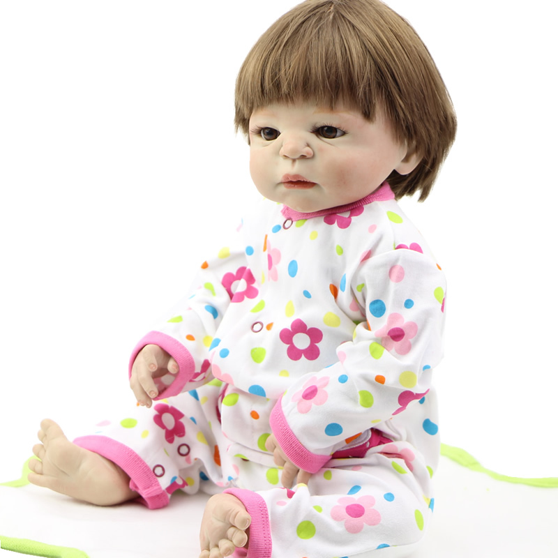 """Realistic Baby Dolls Newborn Silicone Boy Kids Doll Collectible Toy 22/"""" lifesize"""
