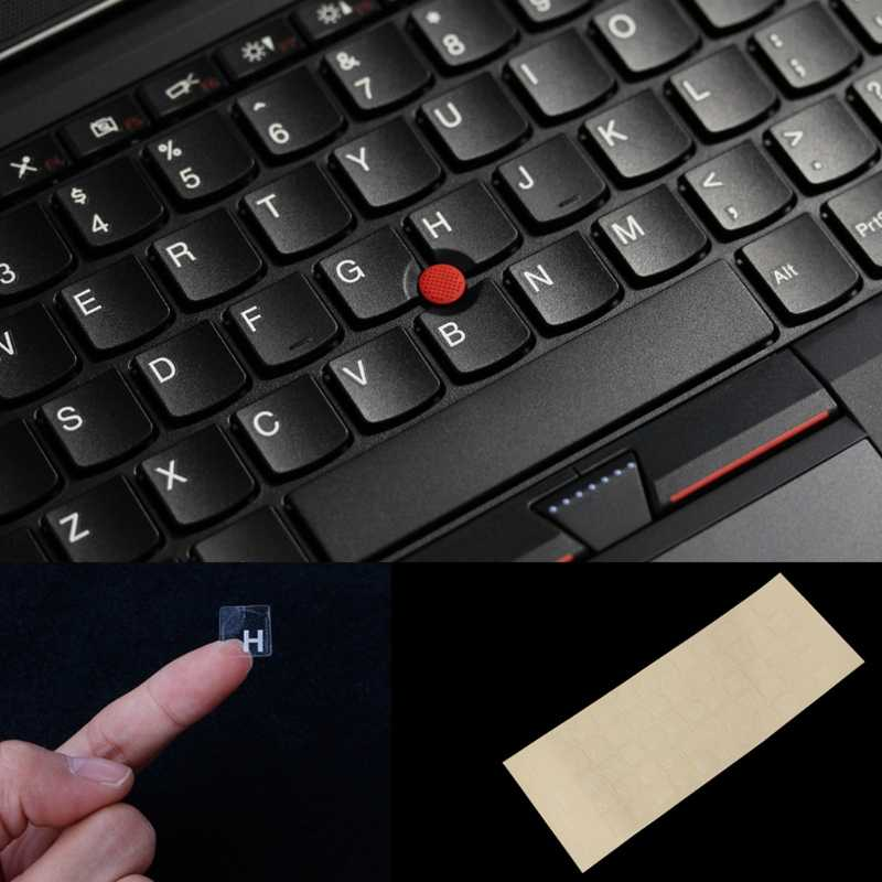 1 Pcs Baru Rusia Keyboard Transparan Stiker untuk 10-17 Inci Notebook Komputer Desktop Keyboard Keypad Laptop
