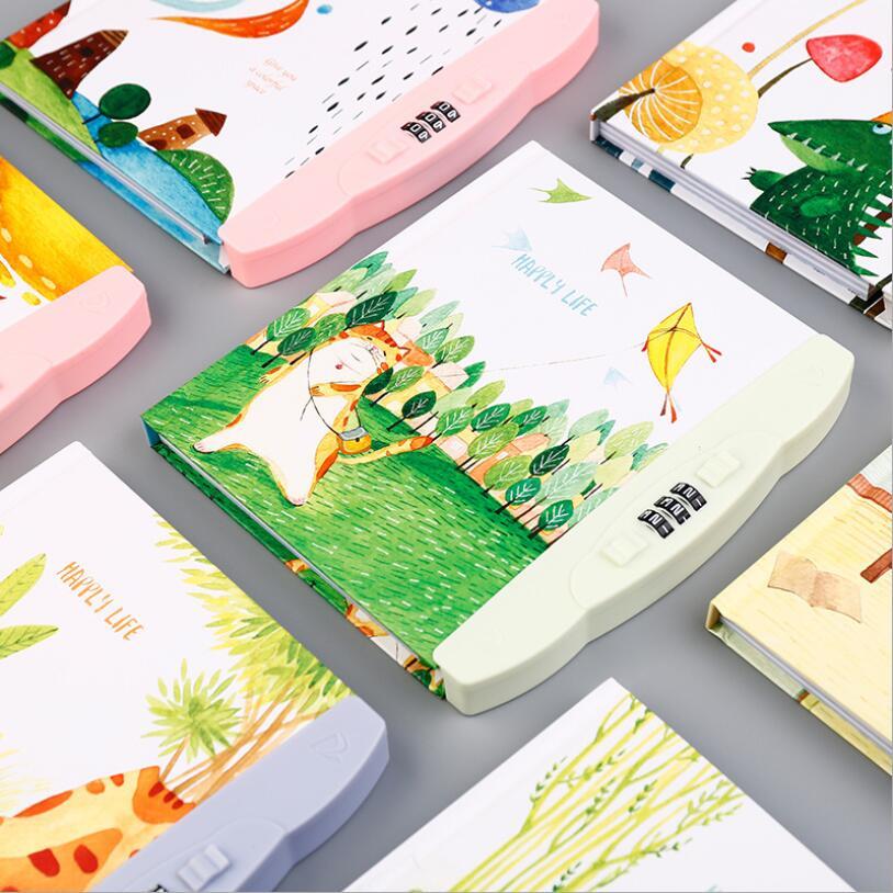 Nette Cartoon Tagebuch Notebook Mit Schloss Passwort Journal Notiz Reise Memos Wöchentlich Planer Schreibwaren Schule Liefert Für Kinder StraßEnpreis Notebooks & Schreibblöcke Office & School Supplies