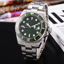 Corgeut 43mm Verde Sub Bisel Reloj Estilo Verde Dial Fecha Mens Automático Reloj de pulsera de Cristal de Zafiro WA4302SG