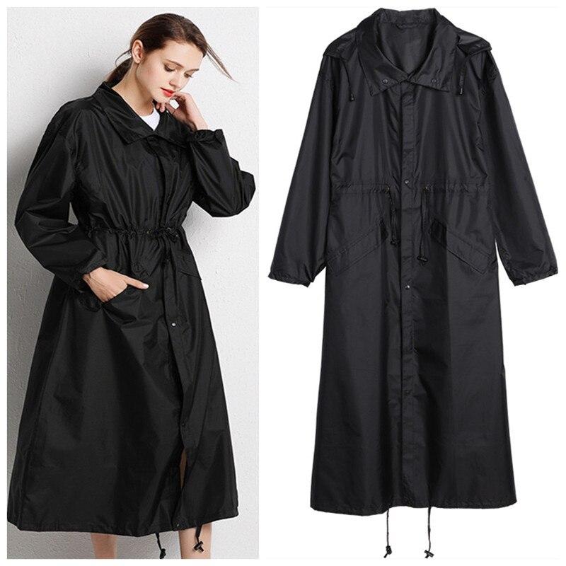 Longa capa de chuva poncho das mulheres DOS HOMENS à prova d' água Ao Ar Livre Passeio capa de chuva de Chuva Ponchos casaco jacket chubasqueros tamanho XL