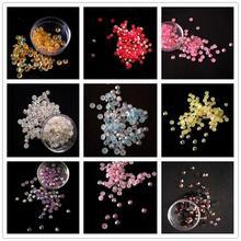 100pcs/pack 4MM Jelly AB Rhinestones Mobile Phone Beauty Decorations / DIY  Nail Art Materials Flat Diamonds