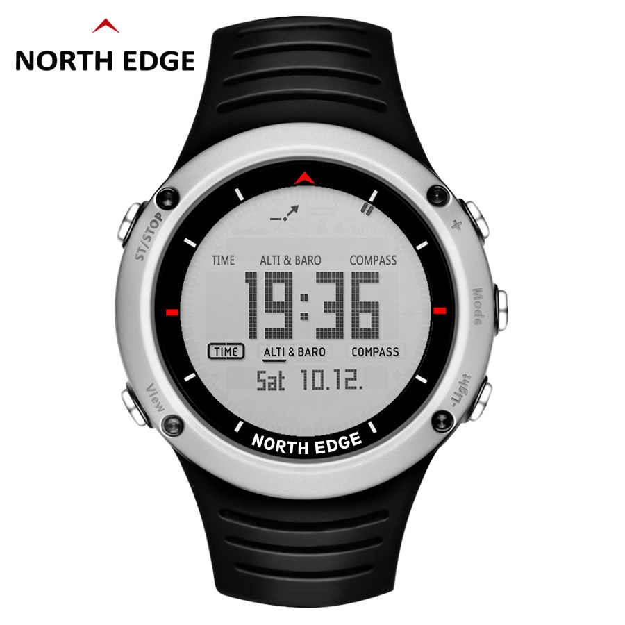 Men army sport Digital watch Hours Running Swimming sports watches Altimeter Barometer Compass Thermometer Weather NORTH EDGE