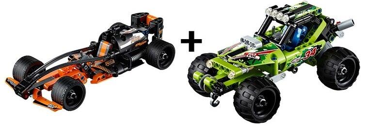 3413 3414 Technic Warrior Off-Roader Decert Racer Car Model Building Blocks Enlighten Figure Toys For Children Compatible Legoe