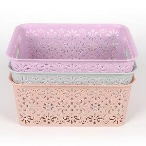 1PC Drawer Closet Organizers Boxes For Scarfs Socks Desktop Cosmetic Sundries Finishing Box PP Hollow Underwear Bra Storage Box