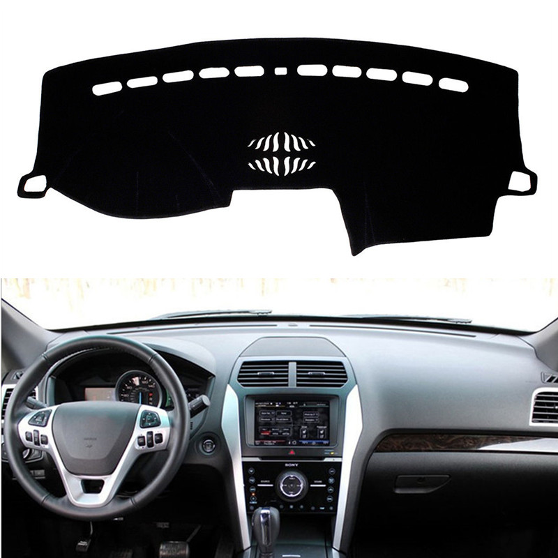 For Ford Explorer 2011-2018 Dashboard Mat Cover Dashmat Pad Interior Sun Shade Instrument Carpet Anti-UV Car Styling Accessories
