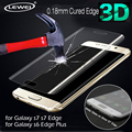 For Samsung Galaxy S7 S7 Edge S6 Edge 9H 0.2mm 3D Curved Tempered Glass Protector Front Full Cover Front Screen Protector