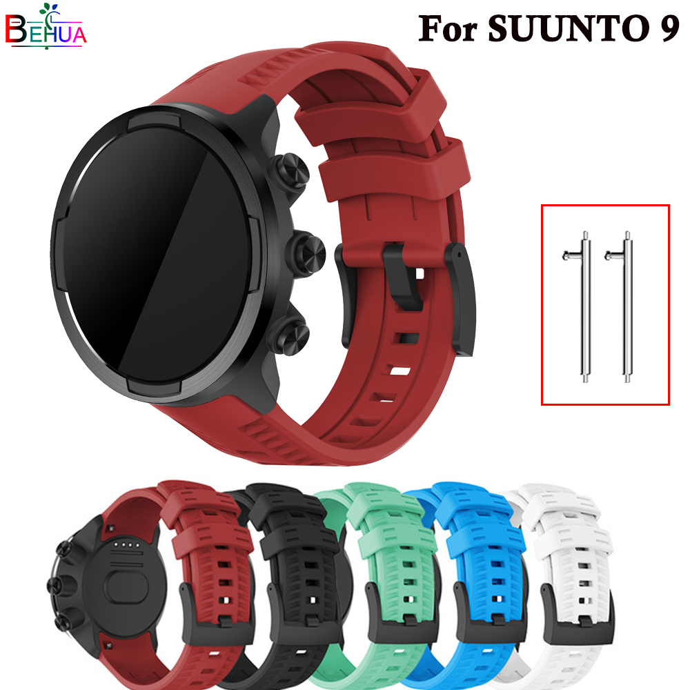 Brand new high quality silicone watch strap For Suunto 9/9 Brao/Spartan sport baro wristband Replacement watch band Accessories
