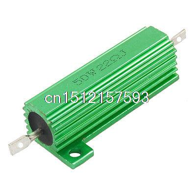 Green 50 Watt 22 Ohm 5% Aluminum Shell Wire Wound Resistor 100w 300 ohm 5% aluminum screw tabs resistor gold tone