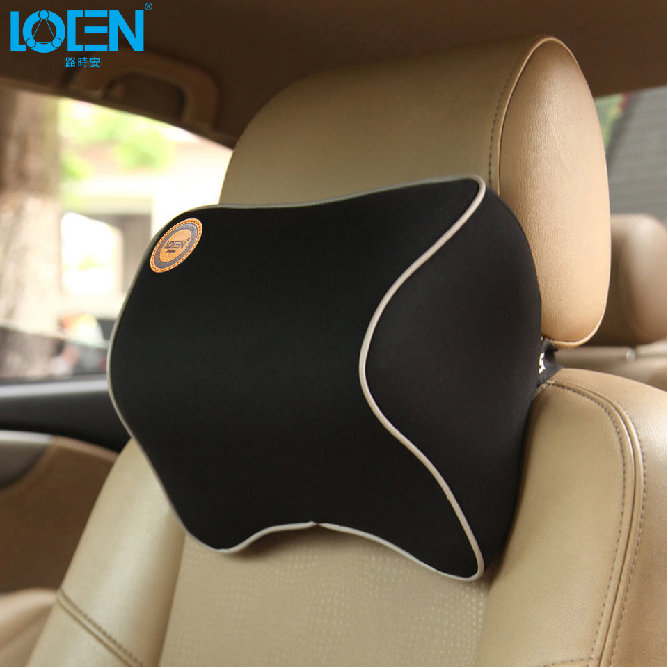 1 PCS Car Pillow Summer Space Memory Fabric Neck Headrest Car Covers Vehienlar Plaid Pillow Car Seat Cover Headrest Neck Pillow