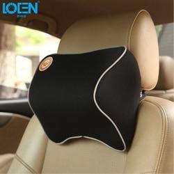 1 PCS Car Pillow Space Memory Foam Fabric Neck Headrest Car Covers Vehicular Pillow Car Seat Cover Headrest Neck Pillow For Home