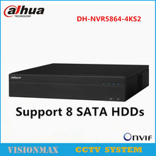Dahua 64CH 12MP NVR NVR5864-4KS2 Network Video Recorder Support 8 SATA HDDs ONVIF HDMI VGA for HDD English Version