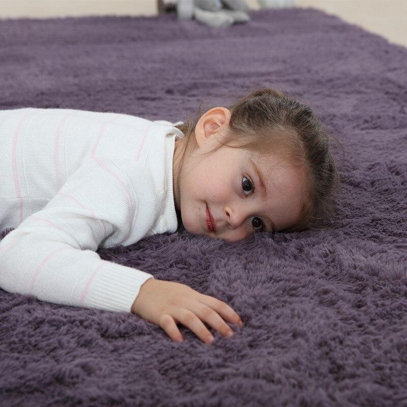 2 x alfombra 3 M 4,0 cm espesar alfombra grande de sala de estar alfombra de felpa para comedor dormitorio redondo rojo verde lana alfombra de coche suave