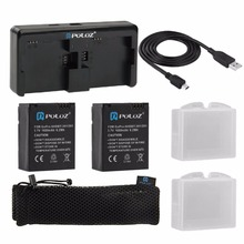 PULUZ 7 In 1 Charger Kit 2 PCS 1160mAh Batteries+1pc Dual Channel Fast USB Charger Action Camera Accessories for GoPro Hero 4