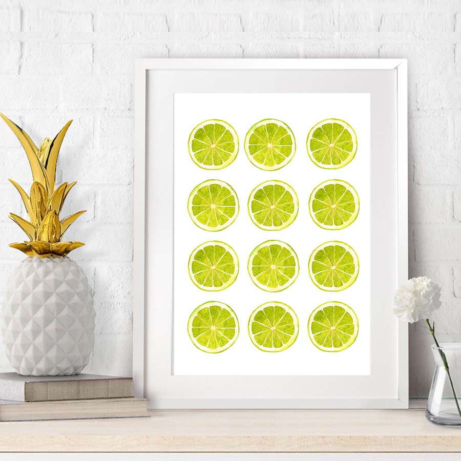 Green Lemons Canvas Painting,Modern Minimalist Prints Poster Canvas ...