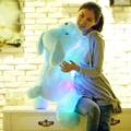 Baby plush toys 50CM  Length Creative Night Light LED Lovely Dog Stuffed and Plush Toys Best Gifts for Kids and Friends