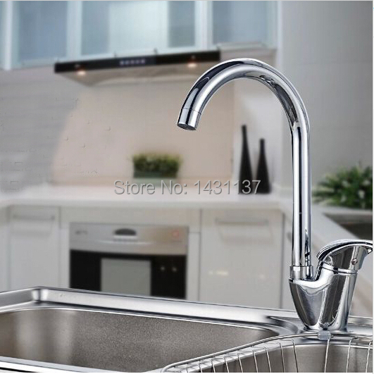 wholesale and retail high quality brass cold and hot single lever 360 degree turn kitchen sink