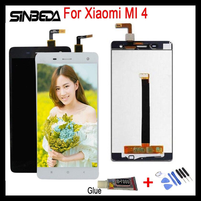 Sinbeda 100% Testé Pour Xiaomi MI 4 Écran LCD Affichage Tactile Sreen Panneau Digitizer Remplacement Assemblée Pour Xiaomi Mi 4 Mi4 M4