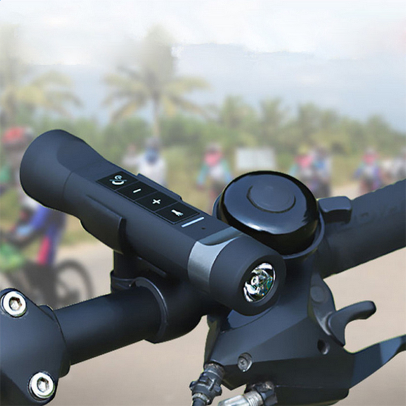 Buyincoins 4 In 1 Mini Wireless Speaker Bluetooth Outdoor Sport Bicycle FM Radio LED Bike Light Lamp For Mounting #90875