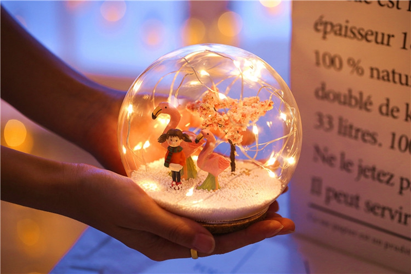 Creative LED Crystal Ball Design Table Lamp Room Decor Bedside Night Light For Girls Baby New Year Christmas Birthday Gift (22)