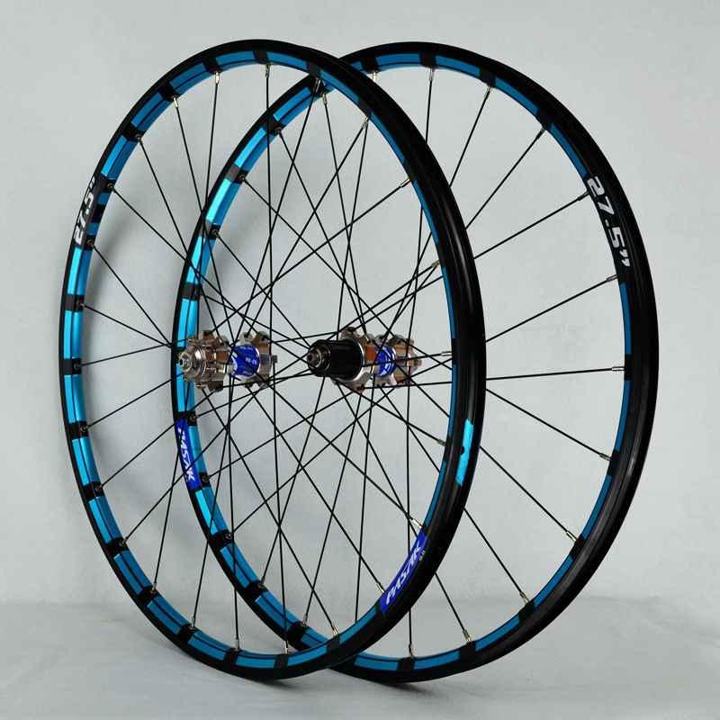 cfe8ccada71 ... mountain bike bicycle wheel 26 27.5inch Milling trilateral front 2 rear  4 bearing japan hub ...