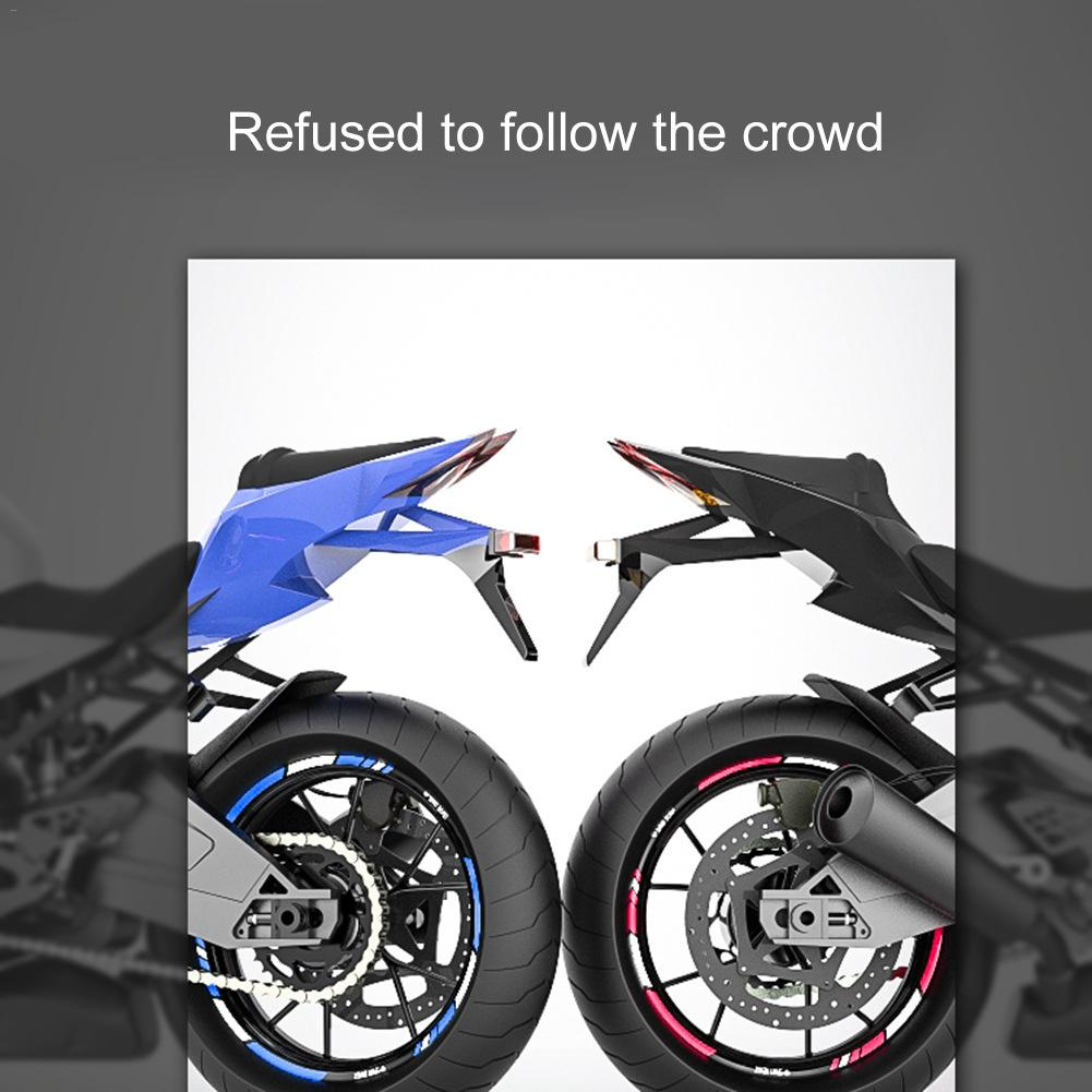 16pcs//set Bicycle bike Motorbike Reflective Rim Tape Wheel Sticker Decal 23*10cm