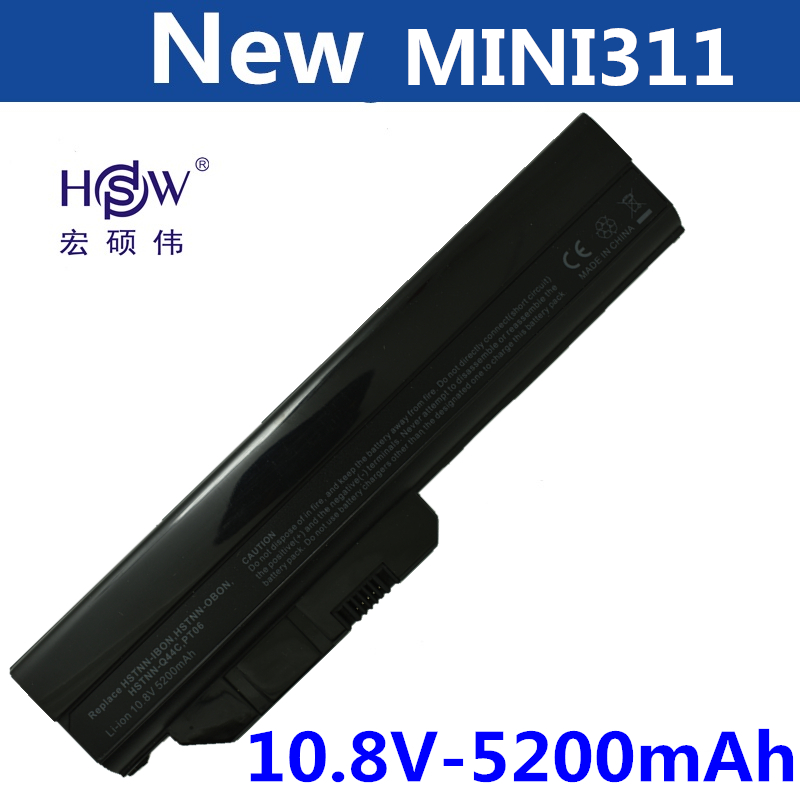 HSW 5200mah Laptop Battery for HP COMPAQ Mini 311c-1000 311c-1010EH Mini 311 311-1000 HSTNN-OB0N HSTNN-IBON HSTNN-Q44C dm1-2000