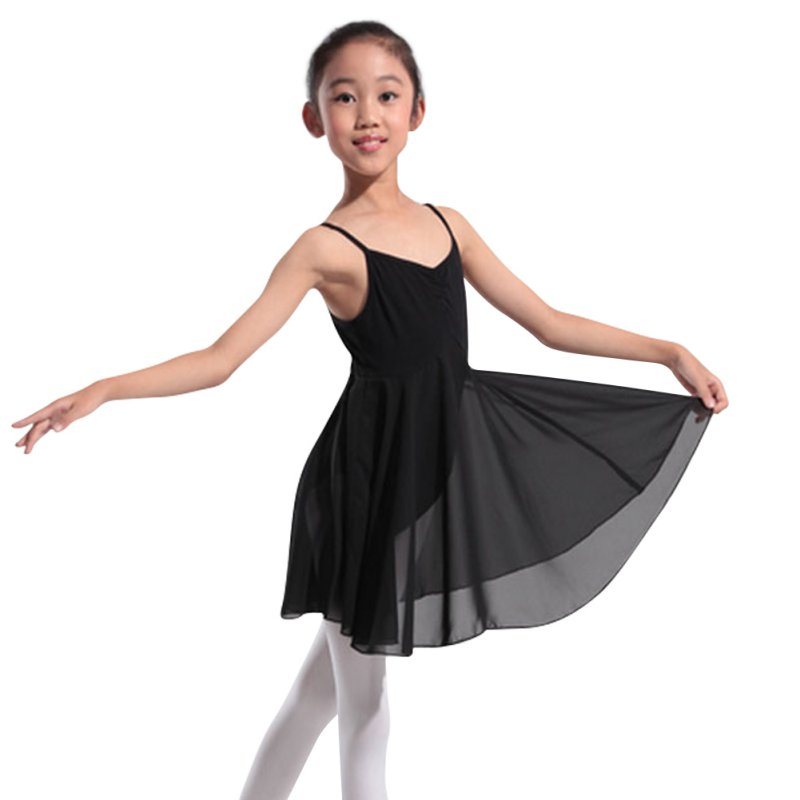 Us 565 32 Offsexy Vestidos Ballet Dance Dresses Cute Baby Girls Dancewear Pink Solid Gymnastics Chiffon Skirt Tutu Dress Large Size Dress In