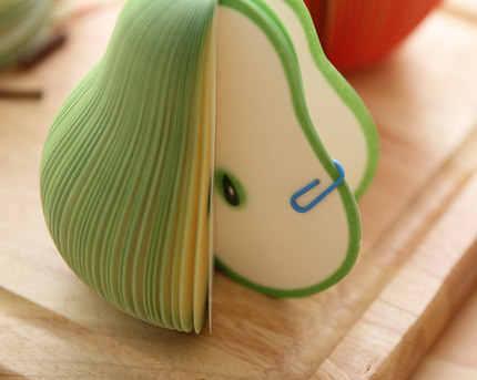 1 יחידות kawaii הערה תזכיר pad פירות חמוד כתיבה קוריאנית יצירתי רעיונות מדבקת הודעה זו הערה נייר דביק