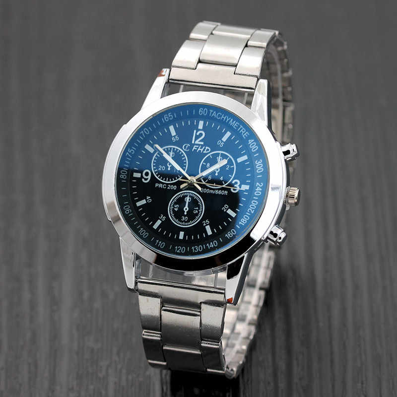 Fashion Luxury Brand watch Man Stainless Steel Watches Men's Sport Quartz Hour Analog Wrist Watch montre homme 2019 New Hot