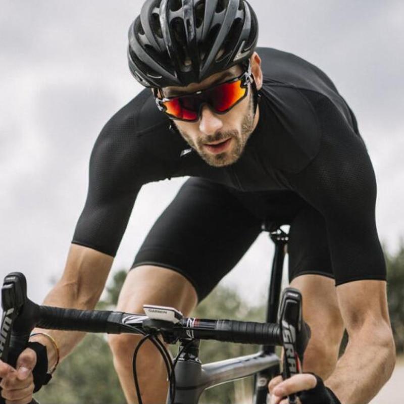RCC Raphp BLACK TOP QUALITY PRO TEAM AERO Skinsuit SPECIALS AEROSUIT Triathlon Speed Cycling Kits Ropa Ciclismo 3 REAR POCKET