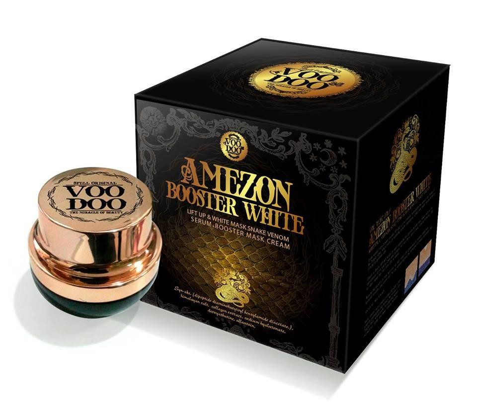 30.5 g. Voodoo Amezon Booster White Mask Snake Venom Serum Cream Thailand