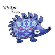 Blue Hedgehog Pins and Brooches for Women Men Jewelry Accessories Metal Fashion Enamel Alloy Cartoon Animal Pin up Brooch 2019 alloy cartoon puppy enamel brooch