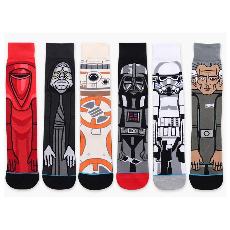 2018 Hot Star Wars Pattern Socks Men Women Vader Casual Cartoon Funny Cotton Stockings