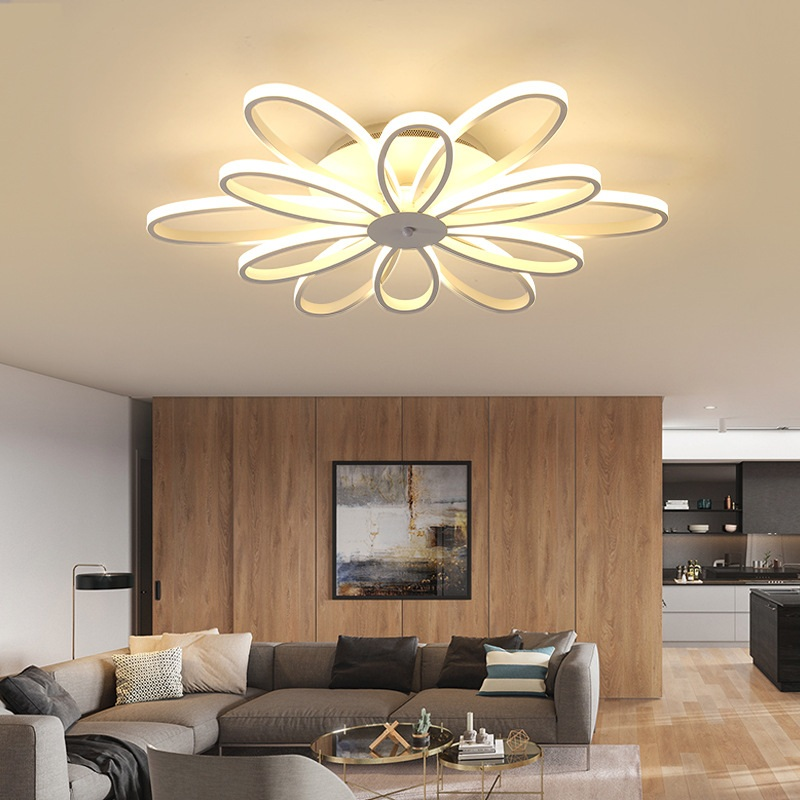 Flush Mount Ceiling Light Ceiling Lamps With Remote Control For Living Room Sitting Room Round Modern Lighting Lamparas Dero Jade White Ceiling Lights