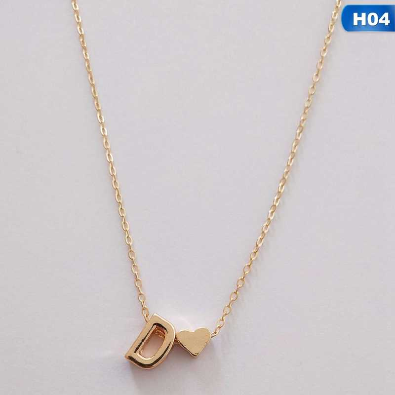 Tiny Gold Color Initial Necklace Letter Necklace Statemant Necklaces Personalized Pendant For Women Girls Best Birthday Gift