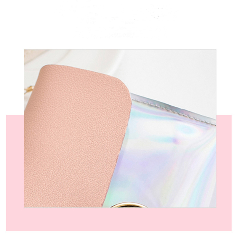 Shoulder Bag PU Material Polyester Fabric New Chain Trend Laser Bag Fashion Ladies Bag 2019 Cover Solid Single-sided Flip