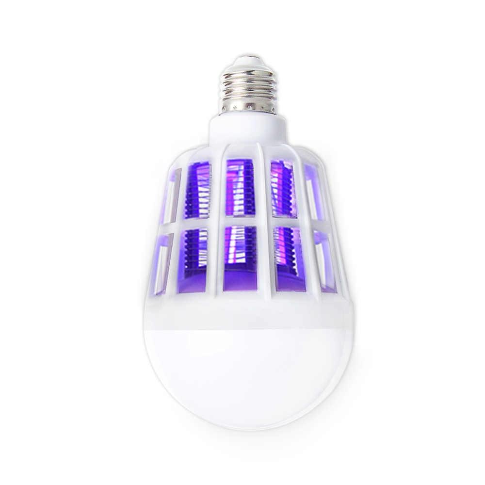 15 W Bug Zapper Nyamuk Listrik Pembunuh E27 LED light Bulb lereng desain Indoor Serangga Terbang Pembunuh