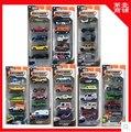 MATCHBOX 1:64 Alloy car kit City of Heroes trolley 5pcs/Set car toy Christmas gift Construction vehicles Ambulance Sports car