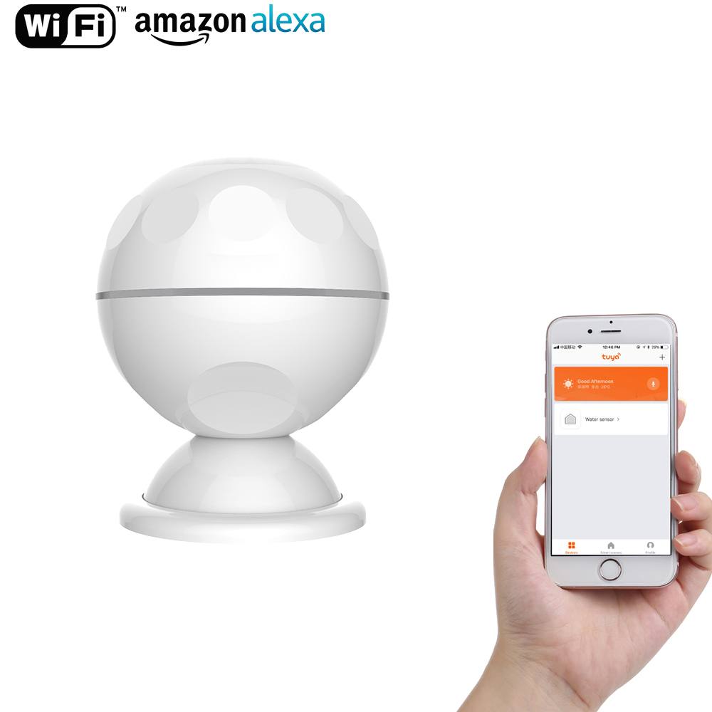 NEO Intelligent PIR Motion Sensor Support Wi-Fi Amazon Alexa, Goole Assistant, IFTTT, Pas Cher Hub Nécessaire Pour Smart Domotique