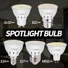 MR16 LED Bulb GU10 Lamp E27 Corn E14 Spotlight 220V B22 Indoor Spot Light GU5.3 Bombillas 48 60 80leds Ampoule 2835 SMD