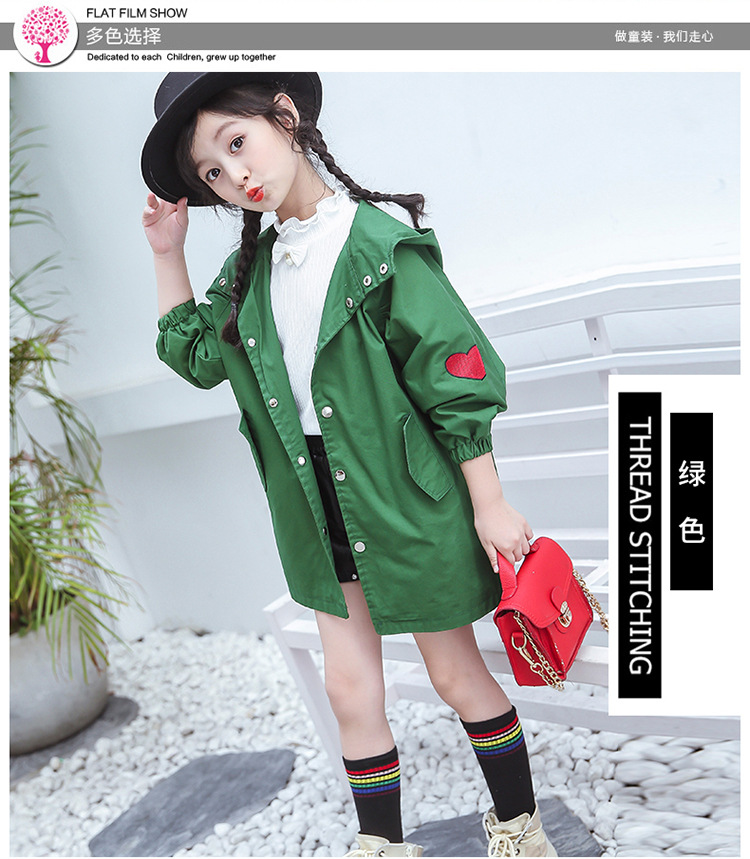 9ee90e0bd Girls Trench Coat 2018 New Spring Autumn Children s 3 Cartoon Colors ...