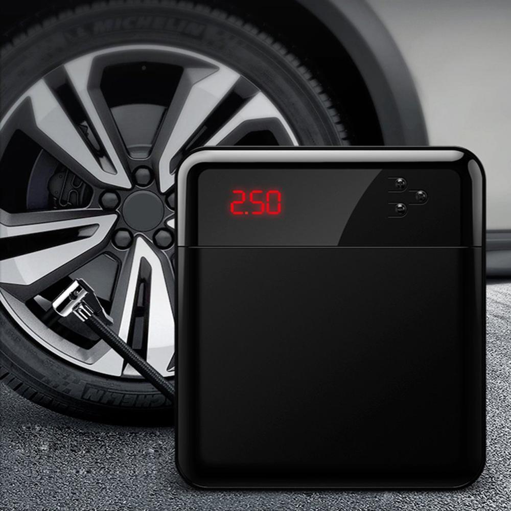 Автомобильные шины электрические 12 В мини портативный воздушный компрессор Цифровой Автомобильный Накачка шин насос автомобильный насос ...